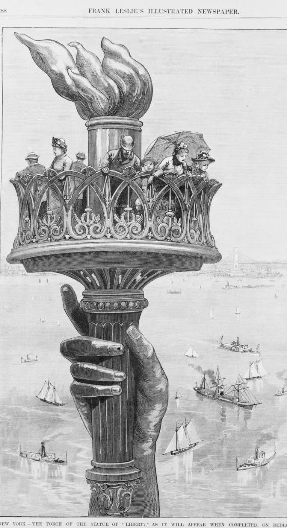 Illustration de la Statue de la Liberté datant de 1885 (Photo: Public Domain)