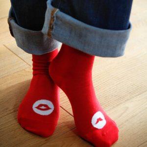 Socks Mr & Ms for her rouge