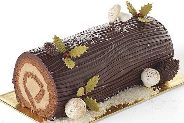 Bûche trois chocolats chez Miette