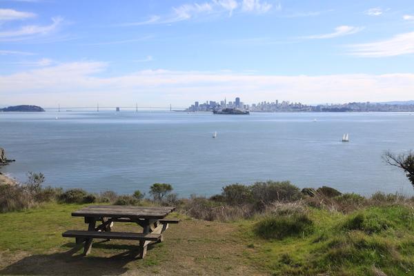 San Francisco et Alcatraz vus depuis Angel Island