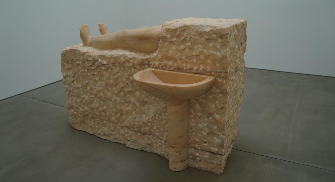 Une œuvre des artistes Daniel Dewar et Grégory Gicquel.