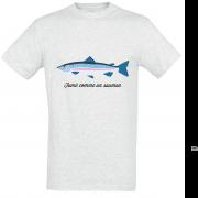 T shirt fumé comme un saumon