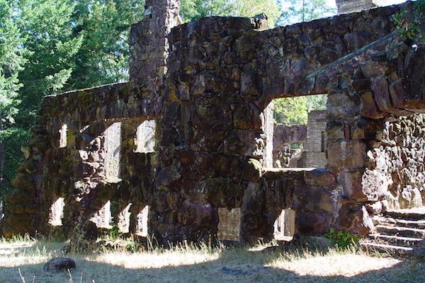 Les restes de la Wolf house de Jack London
