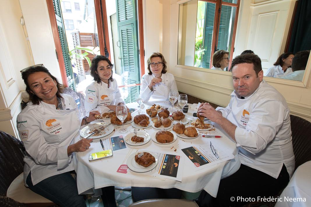 Le jury composé de Clarice Gaubil, Mathilde Froustey, Chantal Guillon, Claude Le Tohic