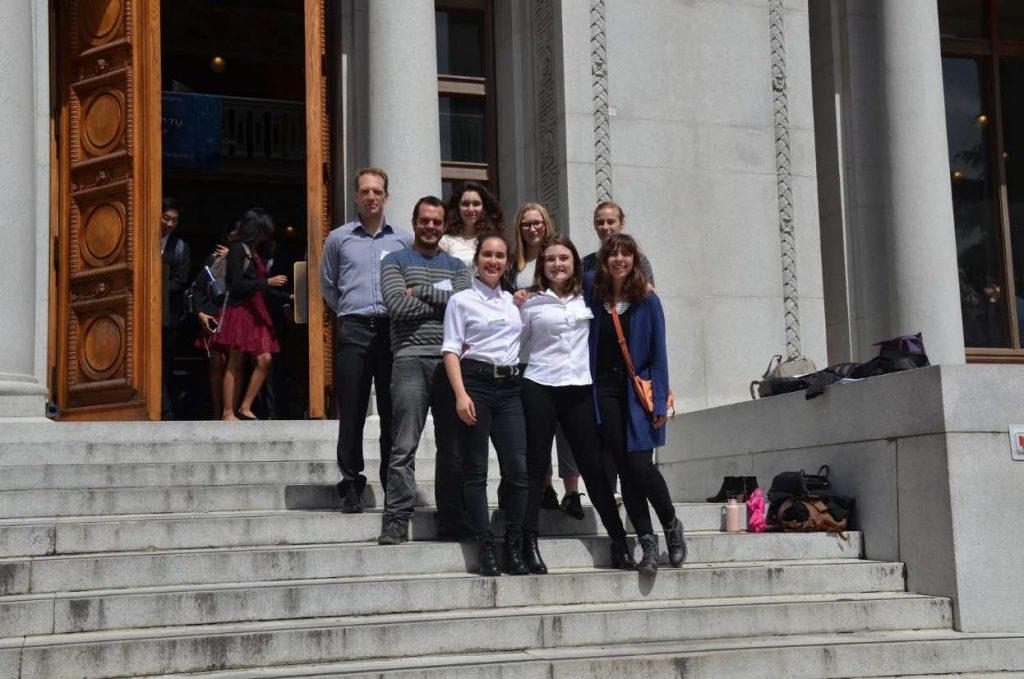 Elèves de Terminale à la competition BioEHSC sur le campus de Berkeley.
